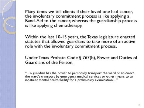 texas probate code section 38 the legal and ethical aspects of incapacity