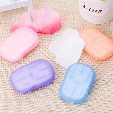New Sabun Kertas Travel Paper Soap Paper Soap Mini Bersih Wangi Haru 5 pcs disposable portable travel boxed confetti soap mini