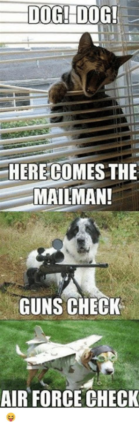does the mailman come on here comes the mailman guns check air
