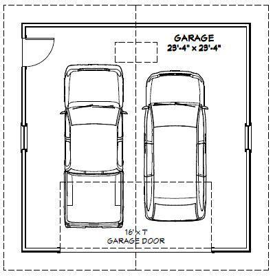 size of 2 car garage 24x24 2 car garage 24x24g1e 576 sq ft excellent