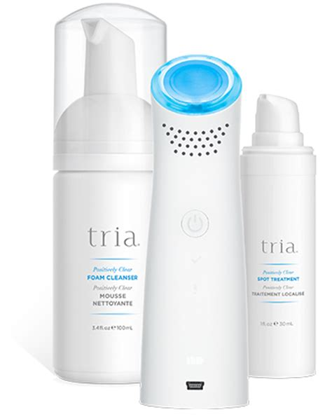 tria beauty acne clearing blue light positively clear reviews acne clearing blue light