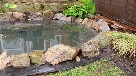 how to build a pond in backyard how to build a garden pond diy project youtube
