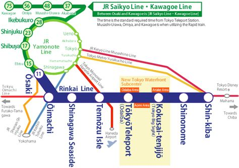 line map rinkai line map lines route hours tickets