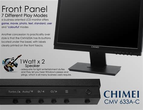 Monitor Led Chimei chimei 16 inch wide lcd cmv 633a c 12 months warranty