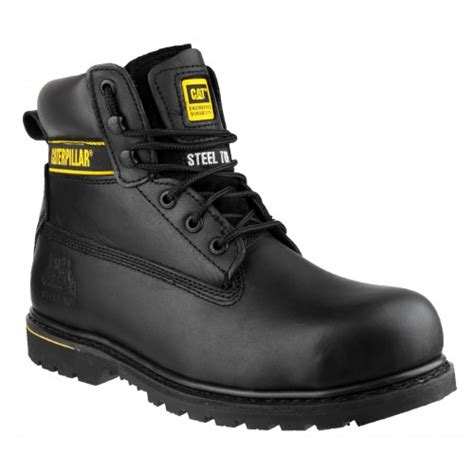 caterpillar safety black high cat holton black safety boots with steel toe caps sb