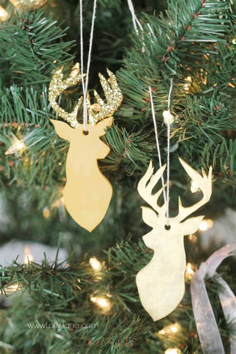 christmas decorations with deer head pic gold decor ideas