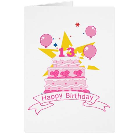 Birthday Card For 13 Year 13 Year Old Birthday Image Long Hairstyles