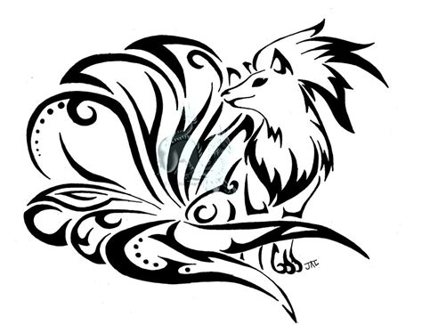 tribal ninetales by neodragonarts on deviantart