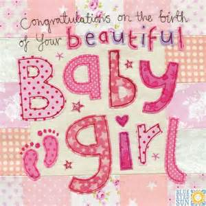 congratulations on the birth of your beautiful baby card large luxury new baby card
