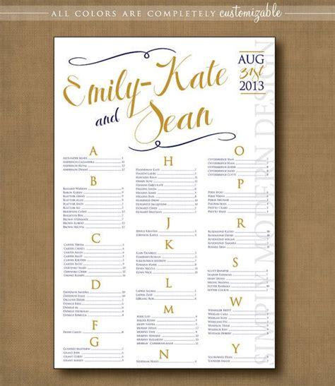 swirls wedding seating chart printable