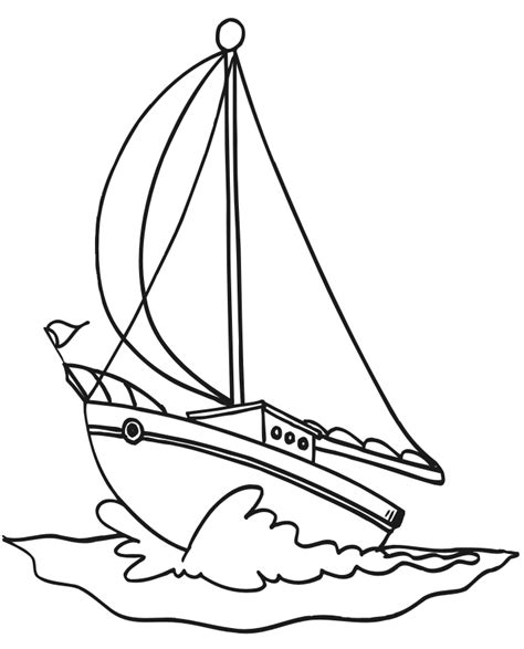 Sail Boat Coloring Pages sketch template