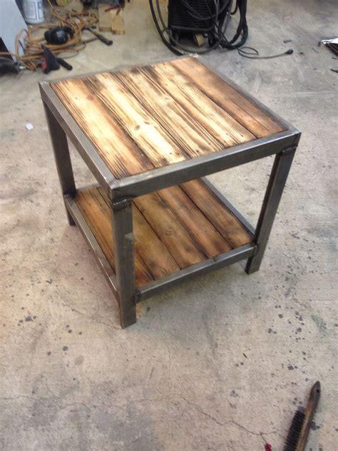 table rustic industrial furniture metal furniture