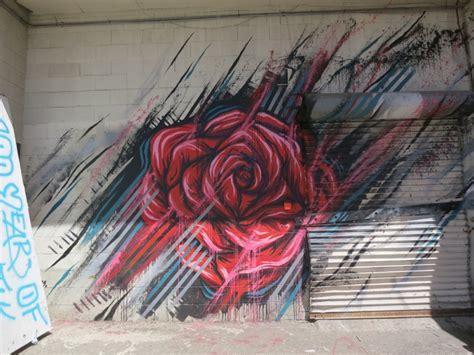 melroseandfairfax burning rose graffiti