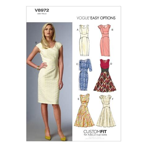 pattern fabric dress vogue misses dress pattern v8972 size a50 discount