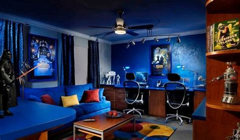 Exceptional Design Your Own Dream House Game #7: 10-blue-video-gamer-room-decor-homebnc.jpg