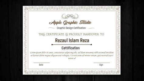 certificate design tutorial how to design a certificate template adobe illustrator