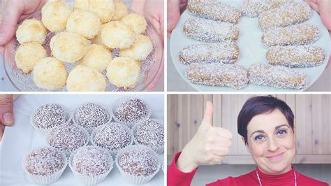 dolci semplici da fare in casa dolcetti al cocco 3 idee facili e veloci da fare con i