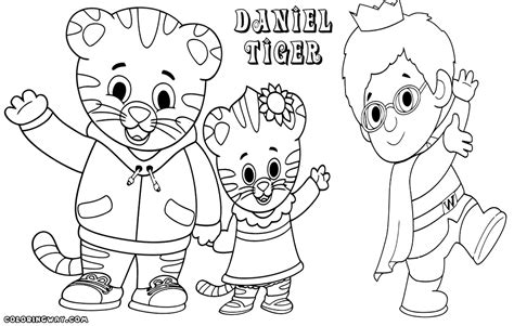 daniel tiger coloring pages coloring pages to download