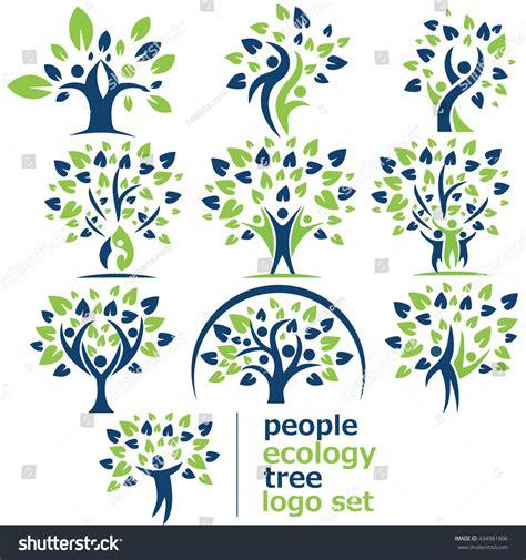 People Ecology Tree Logo Set Stock Vector 434981806 Shutterstock Ecology Family Tree Logo Stock Vector Illustration Of Biology 91037689