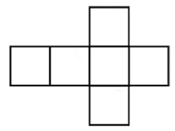 net pattern of cube printable net of a cube clipart best