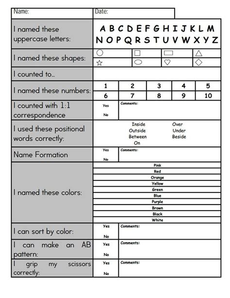 Pre K Report Card Template by Preschool Report Cards To Print Pictures To Pin On
