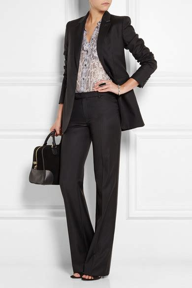 Trousers 100 At The Net A Porter Sale joseph rocker 100 wool twill leg