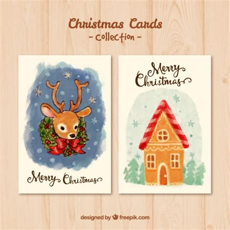 Card Painted painted card pack vector free