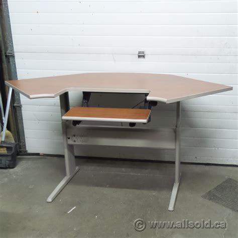 Teknion Sit Stand Height Adjustable Corner Desk Allsold Standing Desk Calgary