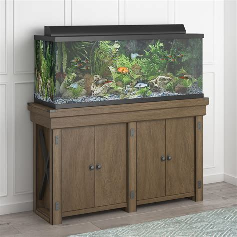 55 Gallon Stand ameriwood furniture wildwood 55 gallon aquarium stand