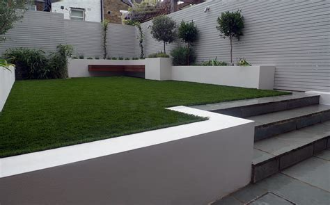 patio artificial grass and planters from lawn land ltd garden