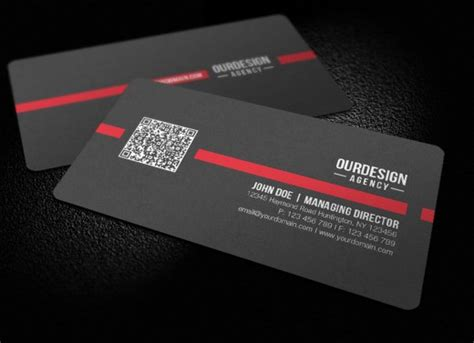 business card with qr code template amazing exles of qr code business card designs