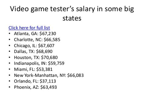 video game tester salary for 2018 video game tester