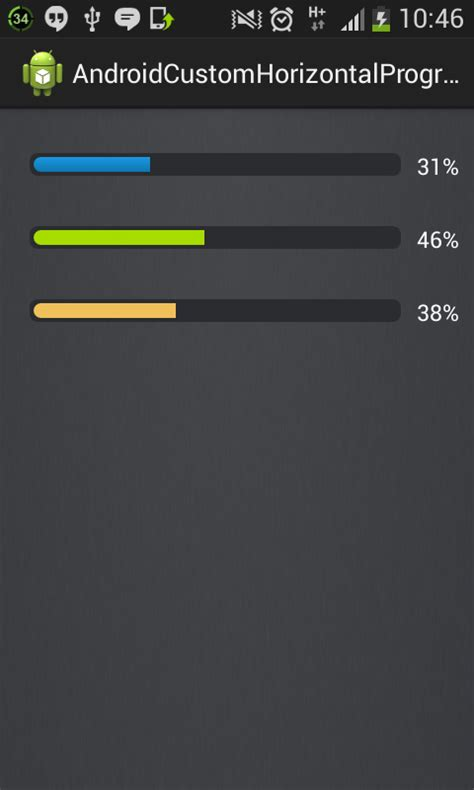 android progress bar android horizontal progress bar stack overflow