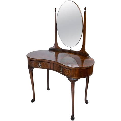 Kidney Vanity Table by Mahogany Kidney Shaped Dressing Table At