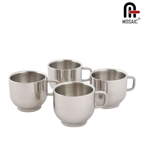 Cuppa App Notifies You When Your Tea Is Ready by Mosaic Contemporary Stainless Steel Tea Cup Set Buy