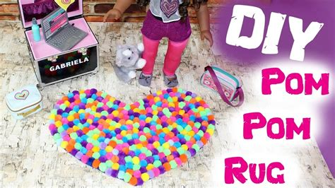 How To Make American Doll Stuff Out Of Paper - diy american doll pom pom rug