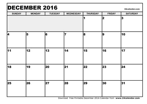 printable version of a 2016 calendar december 2016 calendar print out