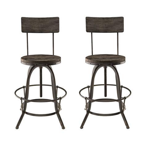 Industrial Bar Stool Set by Set Of 2 Procure Industrial Bar Stool W Wood Seat Backs
