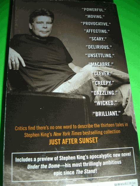 just after sunset stories books just after sunset stories by stephen king oct 2009 paperback