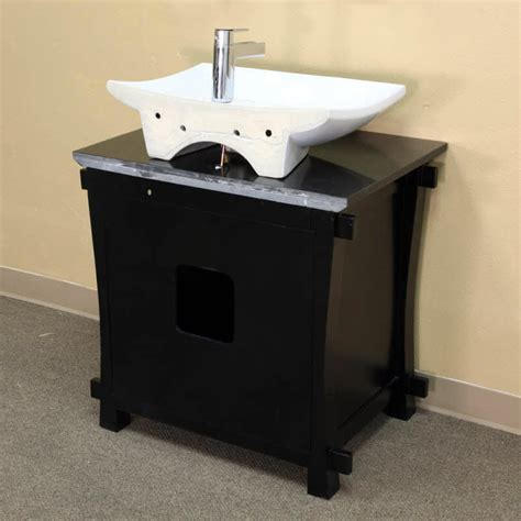bellaterra home 30 quot single black bathroom vanity