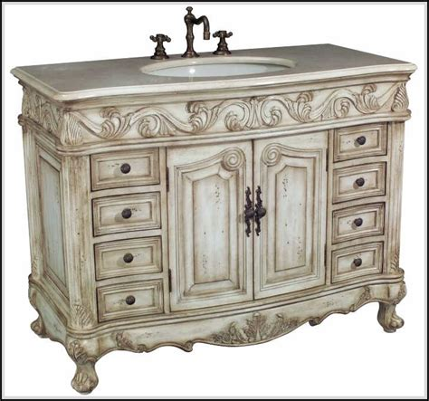 carved bathroom vanity