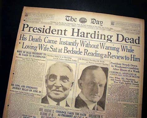 Which Presidents Died In Office by President Harding Dies In Office Rarenewspapers