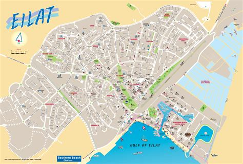 List Of All Us States by Eilat Tourist Map