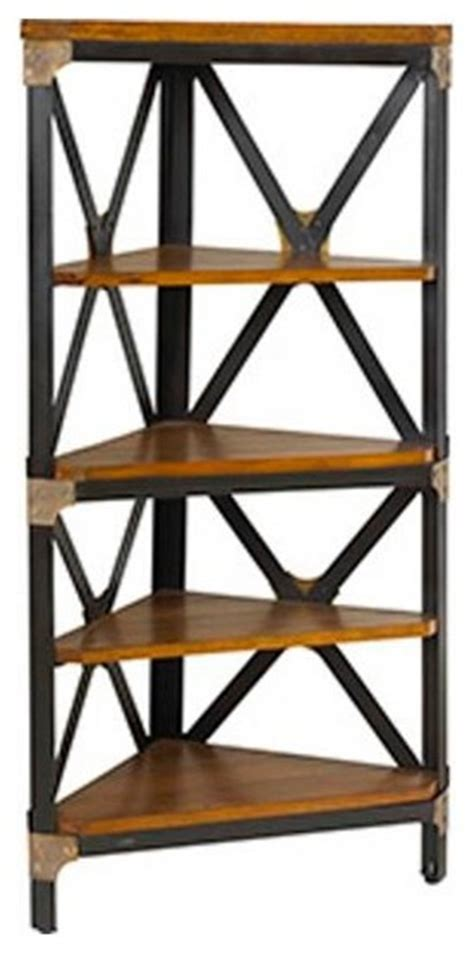 Industrial Corner Shelf by Gaspar Corner Bookcase Industrial Bookcases By
