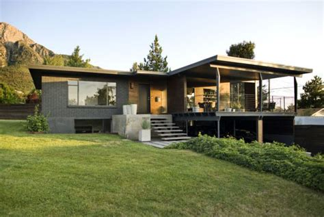 Utah modern homes for sale dark walnut makes it modern house
