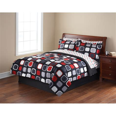 mainstay bedding mainstays coordinated bedding set evans geometric