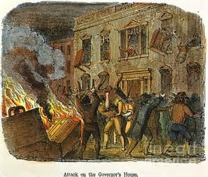 Boston stamp act riot 1765 print by granger