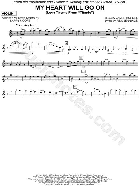 download mp3 free my heart will go on quot my heart will go on violin 1 string quartet quot from