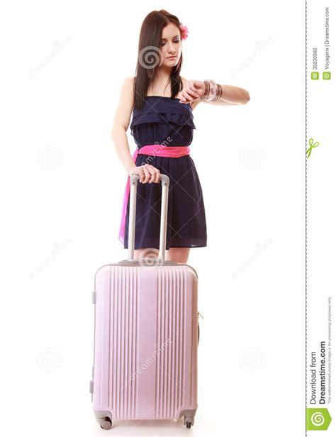 Fashion Bag Motif Salur Pink Korean Style Di Lengkapi Dompet Kecil K summer with travel suitcase isolated stock photo image 35030980