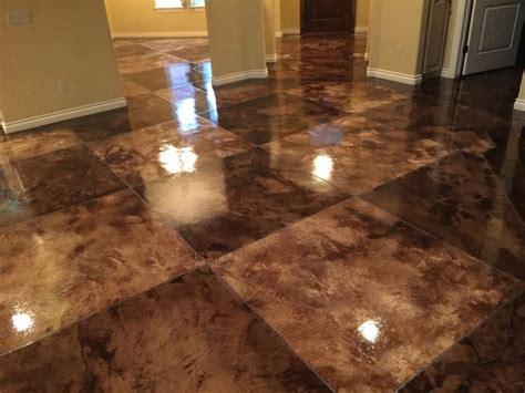acid stain tile pattern concrete floors owens concrete staining oklahoma city ok concrete